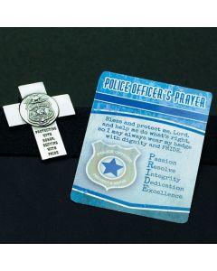 Police Officer Prayer Visor Clip