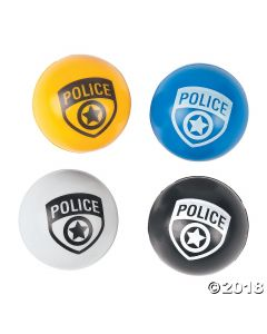 Police Party Bouncing Balls