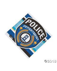 Police Party Luncheon Napkins