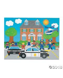 Police Sticker Scenes