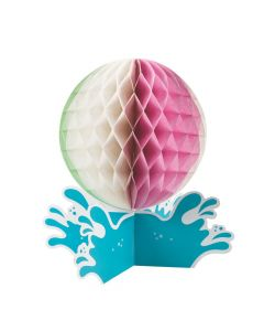 Pool Party Honeycomb Centerpieces