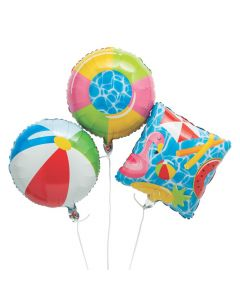 Pool Party Mylar Balloons