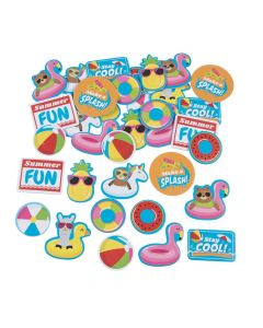 Pool Party Self-Adhesive Shapes