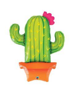 Potted Cactus Mylar Balloon