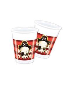 Powerful Pirates Plastic Cups