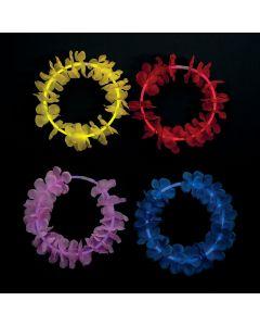 Premium Glow Flower Lei Necklaces - 12 Pc.