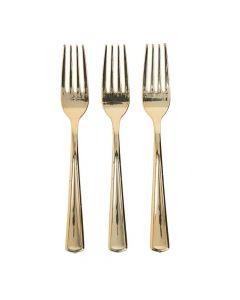 Premium Gold Metallic Forks