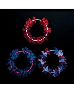 Premium Patriotic Glow Lei Necklaces - 12 Pc.