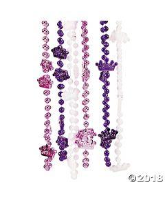 Princess Crown Bead Necklaces