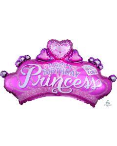 Princess Crown & Gem Super Shape Balloon