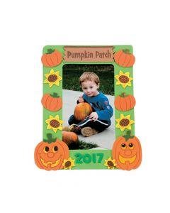 Pumpkin Patch Picture Frame Magnet Craft Kit