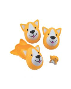 Puppy-Filled Dog-Shaped Plastic Easter Eggs - 12 Pc.