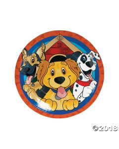 Puppy Party Paper Dinner Plates