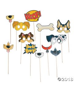 Puppy Party Photo Stick Props