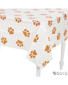 Puppy Paw Print Plastic Tablecloth