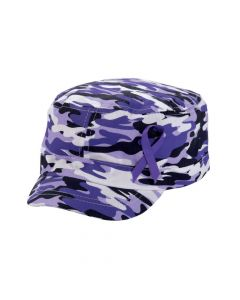 Purple Awareness Ribbon Camouflage Hats