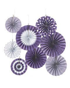 Purple Hanging Paper Fan Assortment