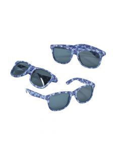 Purple Ribbon Camouflage Sunglasses