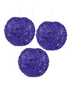 Purple Rosette Hanging Lanterns