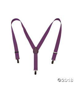 Purple Team Spirit Suspenders
