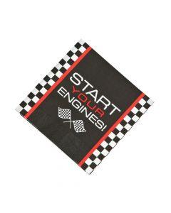 Race Car Checkered Flag Luncheon Napkins