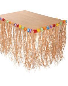 Raffia Flowered Table Skirt