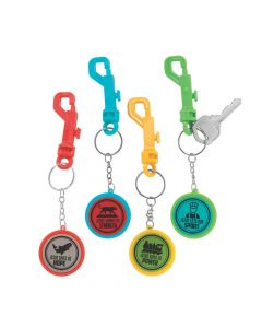 Railroad VBS Backpack Clip Keychains