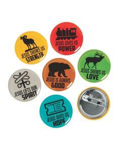 Railroad VBS Mini Buttons