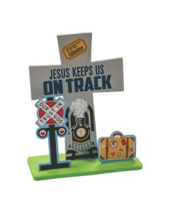 Railroad VBS Stand-Up Cross Craft Kit