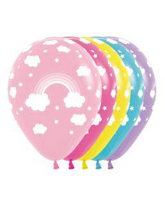 Rainbow Assorted Balloons 30cm