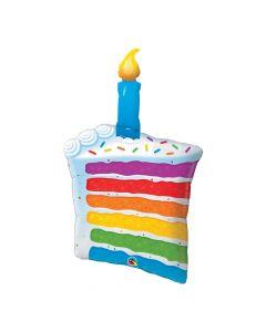 Rainbow Cake & Candle Foil Balloon