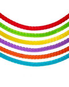 Rainbow Colors Tissue Paper Garlands