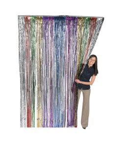 Rainbow Foil Fringe Curtain