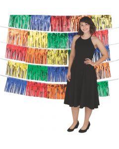 Rainbow Fringe Garland Backdrop