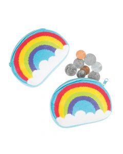 Rainbow Fur Coin Purses