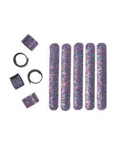Rainbow Glitter Slap Bracelets