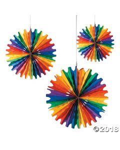 Rainbow Hanging Fans