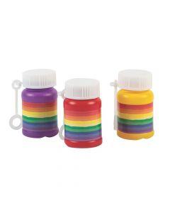 Rainbow Mini Bubble Bottles