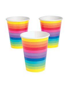 Rainbow Paper Cups