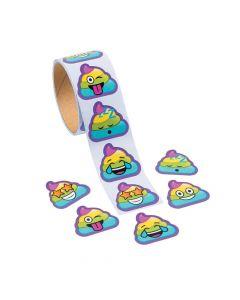 Rainbow Poop Emoji Stickers