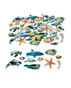 Realistic Ocean Animal Self-Adhesive Shapes
