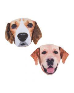 Realistic Photo Stuffed Dog Faces