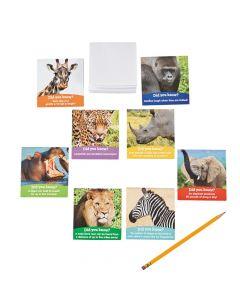 Realistic Safari Animals Notepads