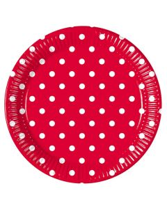 Red Dots Lunch Plate