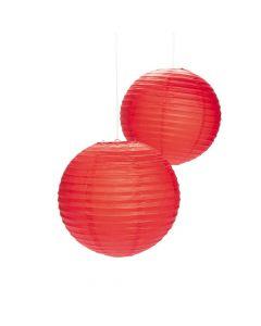 Red Hanging Paper Lanterns