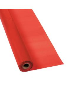 Red Plastic Tablecloth Roll