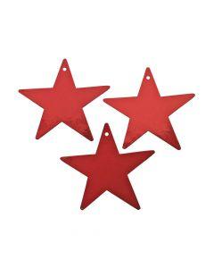 Red Small Metallic Stars