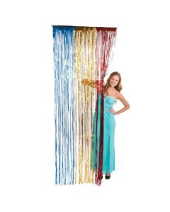 Red, Yellow and Blue Fringe Door Curtain