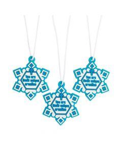 Religious Believe Snowflake Necklaces