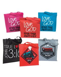 Religious Kid's Tote Bag Assortment